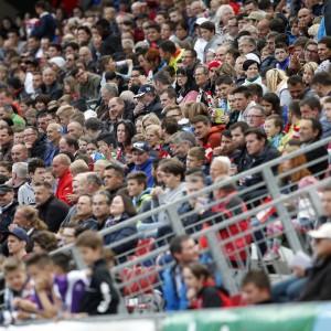 Fans auf Tribüne