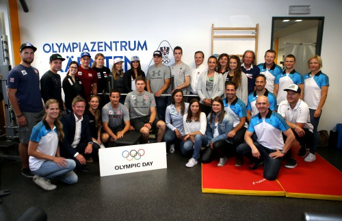 Sportlerfruehstueck. Olympiazentrum.  . Klagenfurt, am 22.6.2018.Foto: Kuess