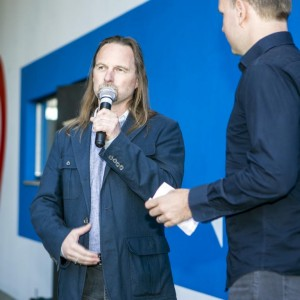 Gert Unterköfler (Sportpark) beim Interview